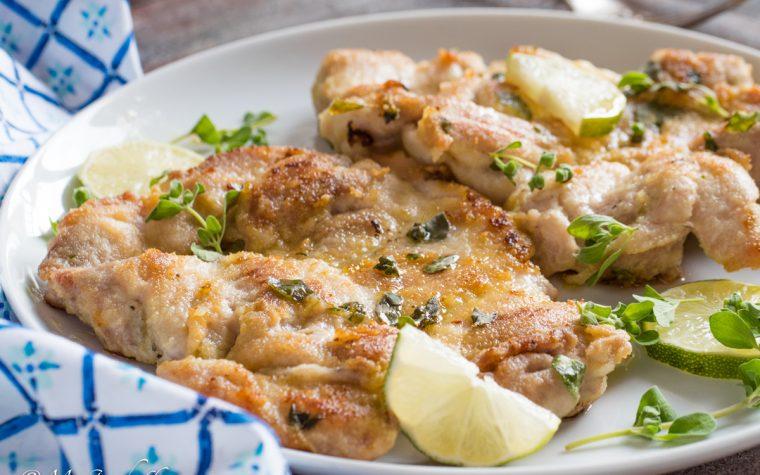 Braciole di pollo limone e maggiorana