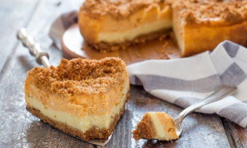 Crumble cheesecake zucca e vaniglia