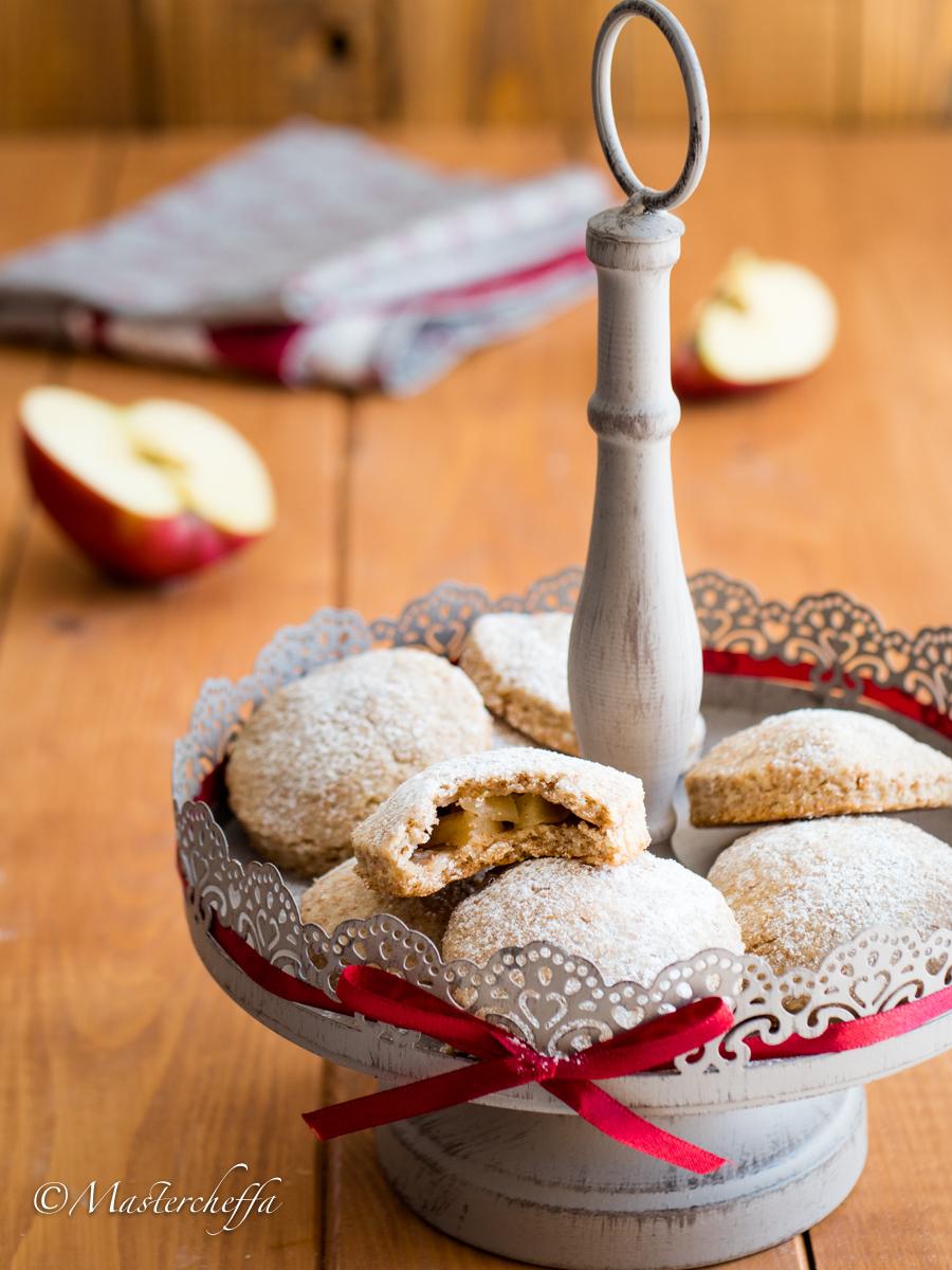 Biscotti con cuore di mela integrali