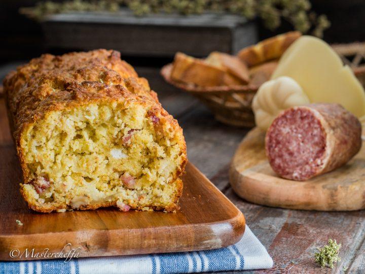 Plumcake pane e salame - ricetta svuotafrigo