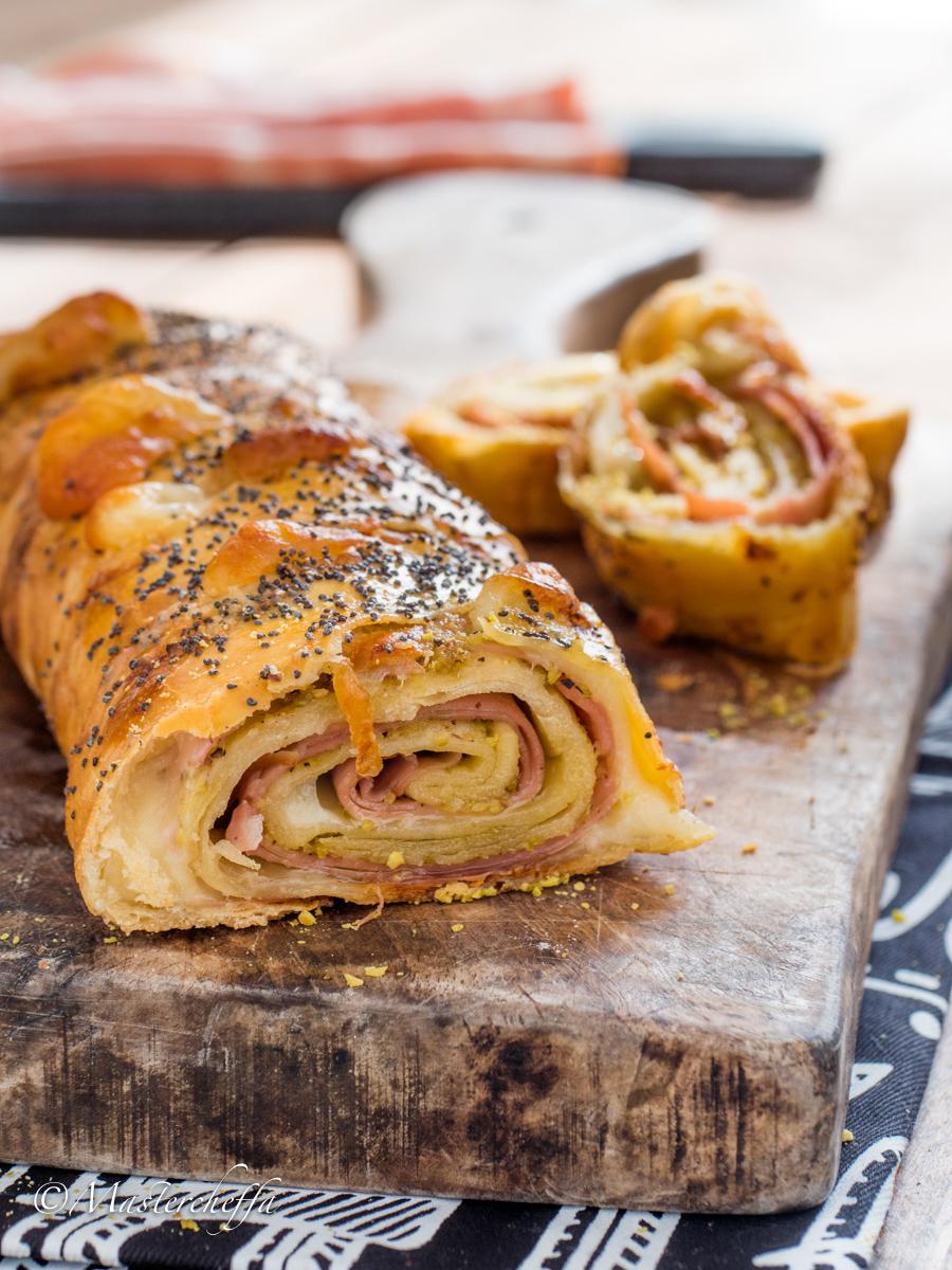 Strudel Salato Mortadella e Pistacchi