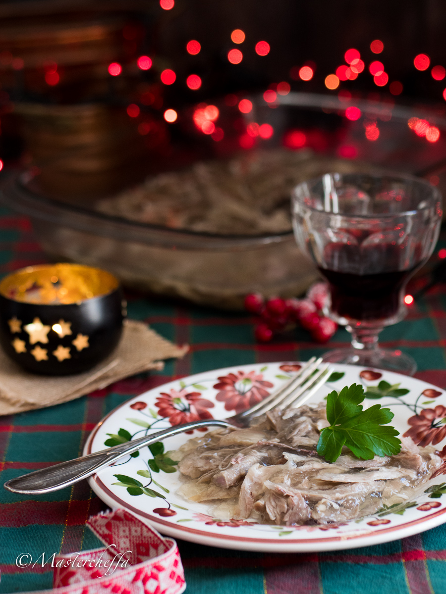 Gelatina di maiale (A liatina) - ricetta ragusana natalizia