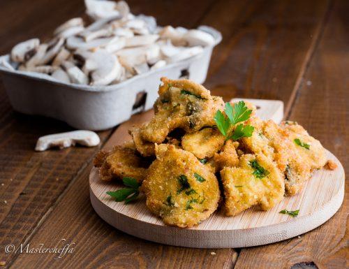 Champignon panati e fritti