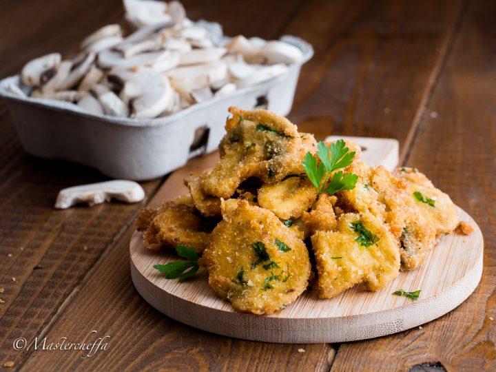 Champignon panati e fritti - ricetta funghi fritti croccanti e dorati