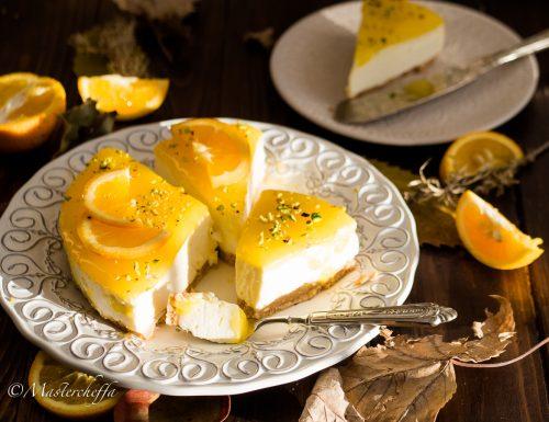 Cheesecake all'arancia – ricetta senza cottura