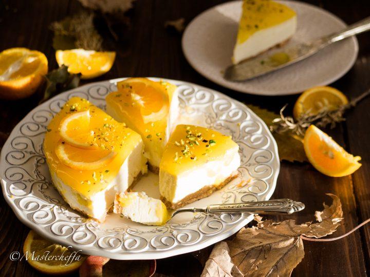cheesecake all arancia ricetta senza cottura