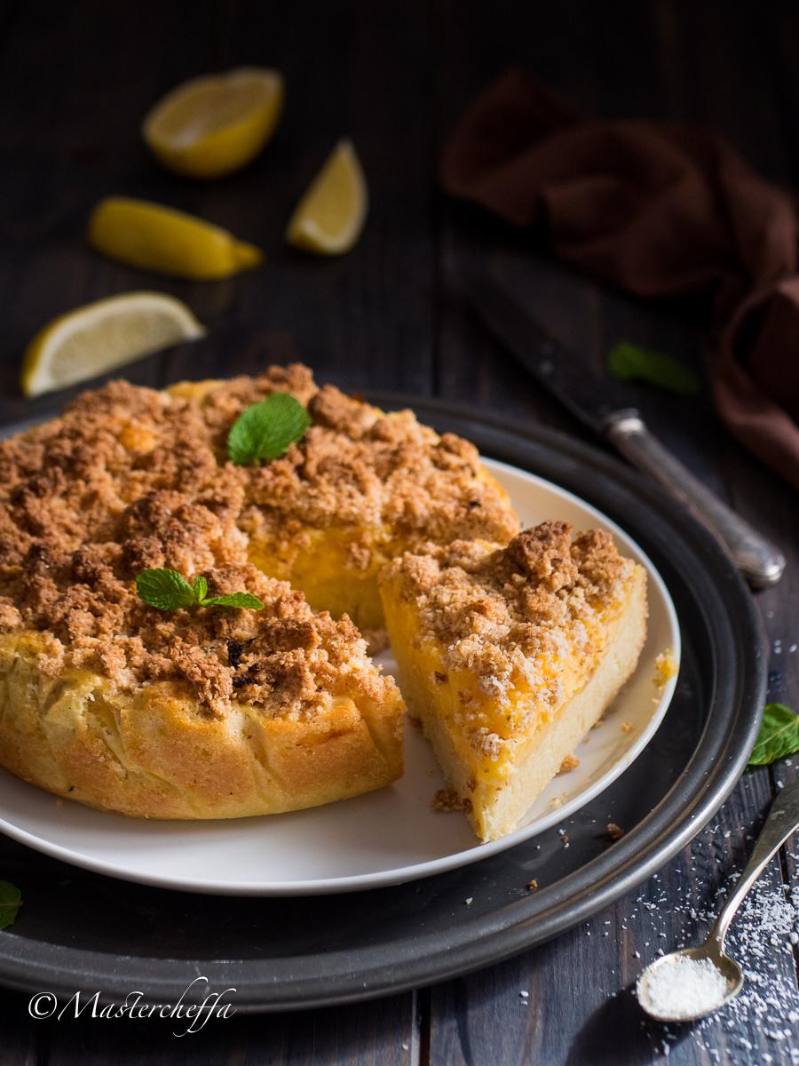 crumb cake cocco e limone