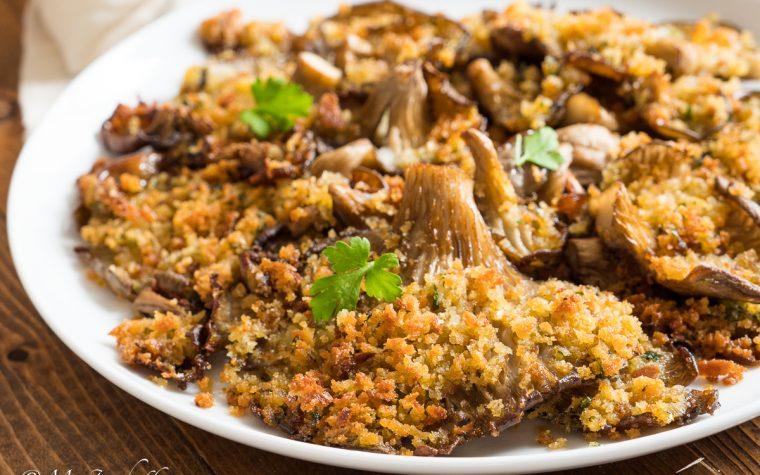 Funghi gratinati al forno – ricetta semplice e leggera