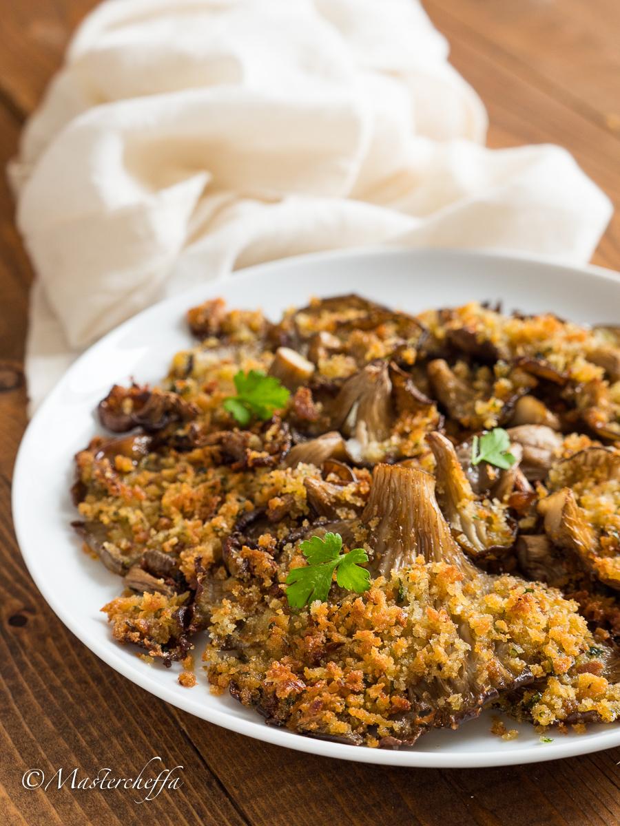 Funghi gratinati al forno - ricetta semplice e leggera