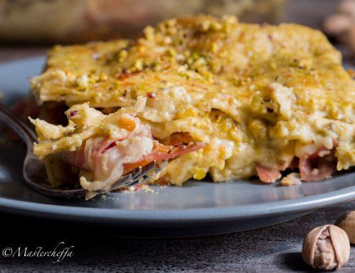 Lasagne al pistacchio e speck
