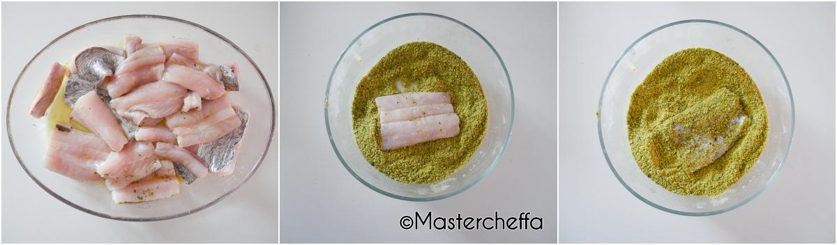 filetti di spatola al pistacchio passo passo