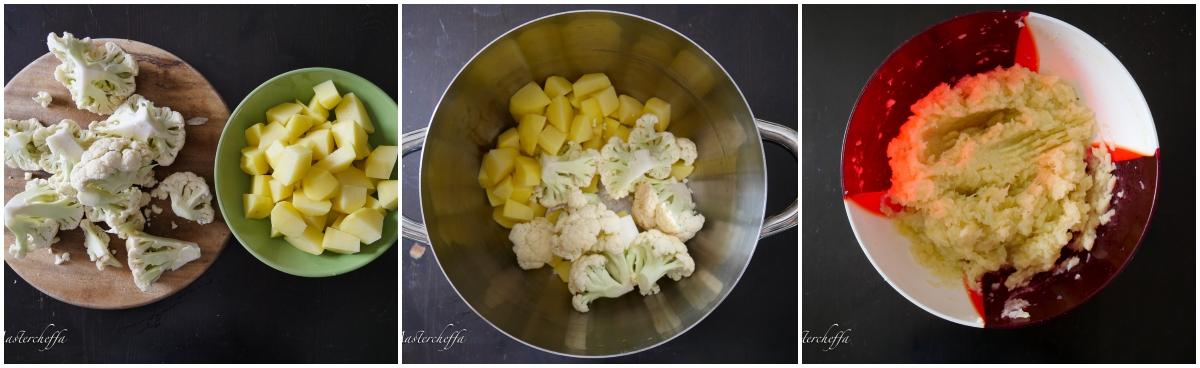 gattò cavolfiore e patate passo passo 1