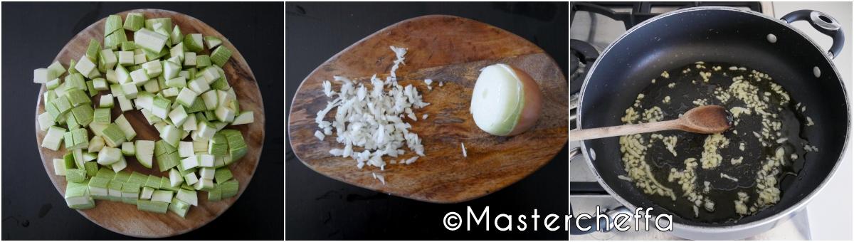 timballo di riso zucchine e prosciutto passo passo 1