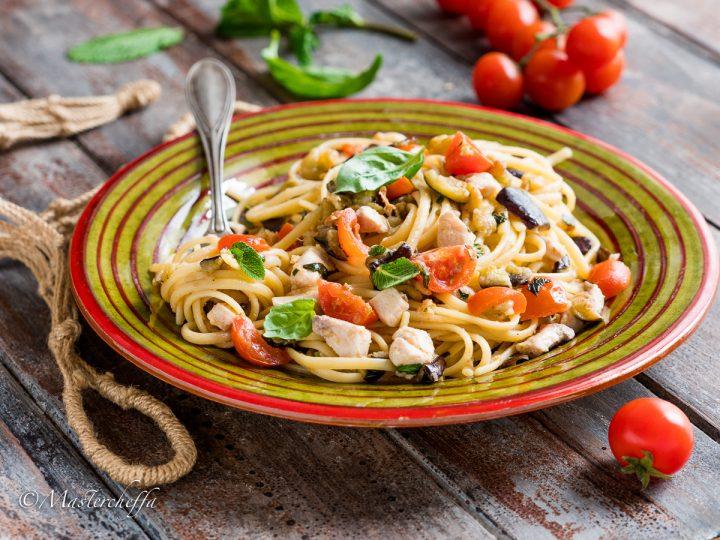 spaghetti spada e melanzane ricetta siciliana