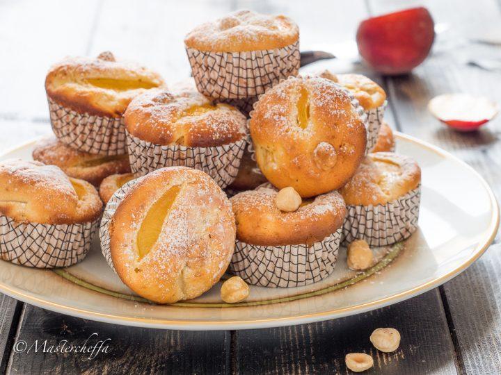Muffin alla pesca con nocciole senza burro