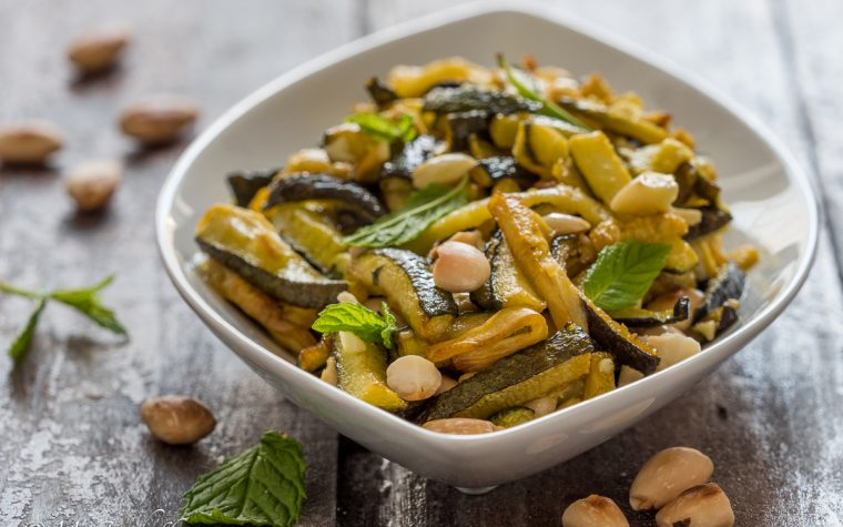 Zucchine in agrodolce con le mandorle