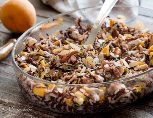 Insalata di riso polpo e pesche