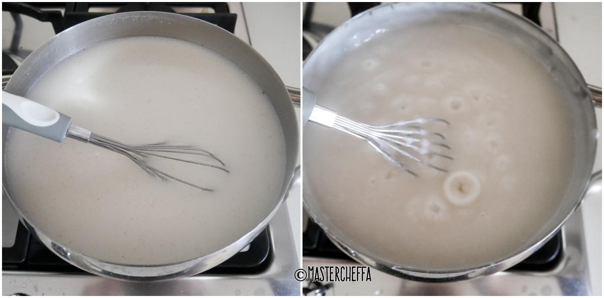 gelo di mandorle o biancomangiare di mandorle passo passo 3