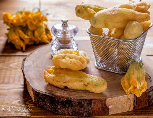 Fiori di zucca in pastella croccantissimi