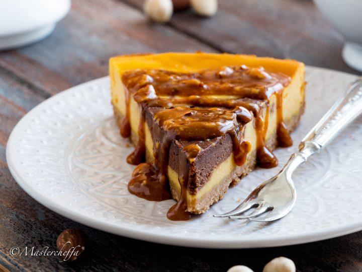 cheesecake zucca e cioccolato