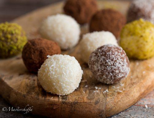Tartufini al cocco – ricetta facilissima