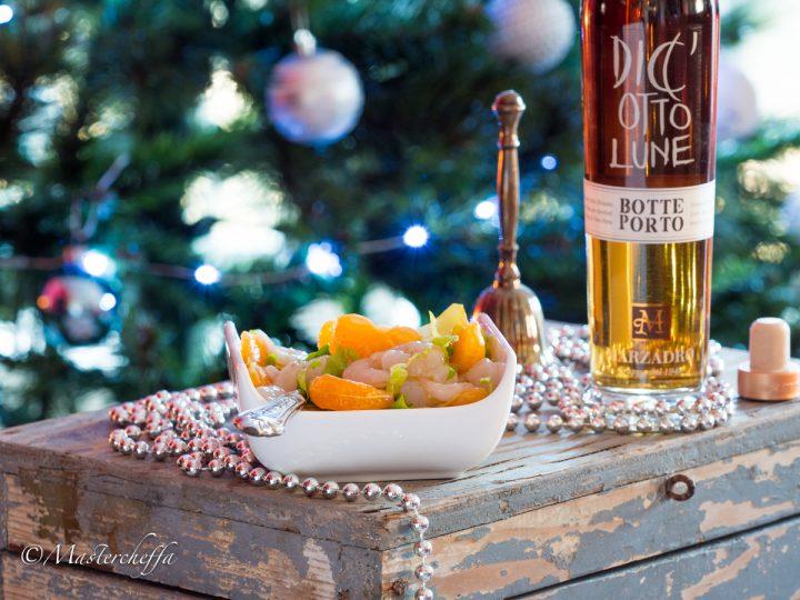 Insalatina di gamberetti alla grappa e clementine-4