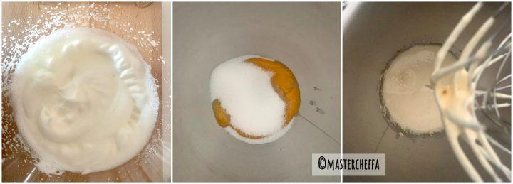 Pasta biscotto (pan di spagna arrotolato) passo passo 1