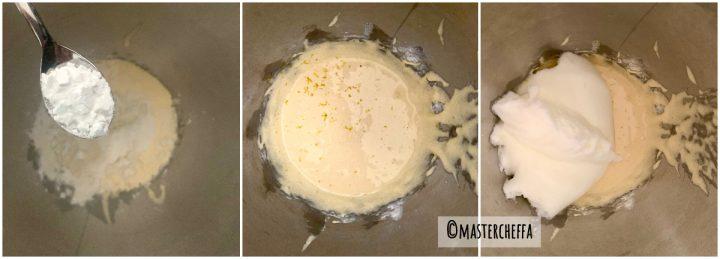 Pasta biscotto (pan di spagna arrotolato) passo passo 3