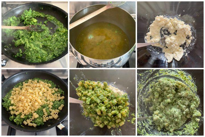 Pasta broccoli e ricotta - pasta scamuzza e ricotta, passo passo 3