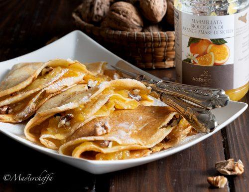 Crepes noci e marmellata di arance amare