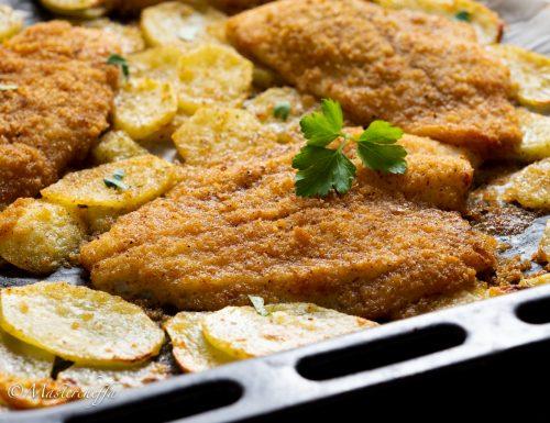 Platessa panata al forno con patate