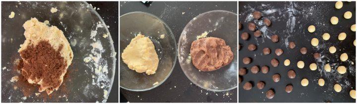 Biscotti a fiore vaniglia e cacao passo passo 2