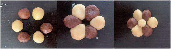 Biscotti a fiore vaniglia e cacao passo passo 1
