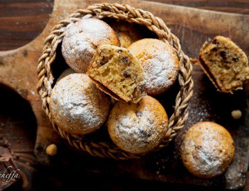 Muffin al mascarpone con nocciole e cioccolato