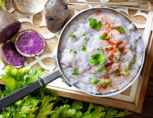 Come preparare il purè di patate viola