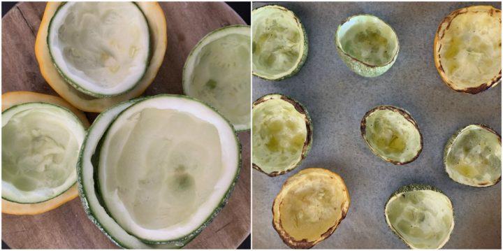 zucchine tonde ripiene al forno passo passo 1