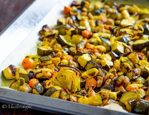 Verdure al forno con curcuma e limone