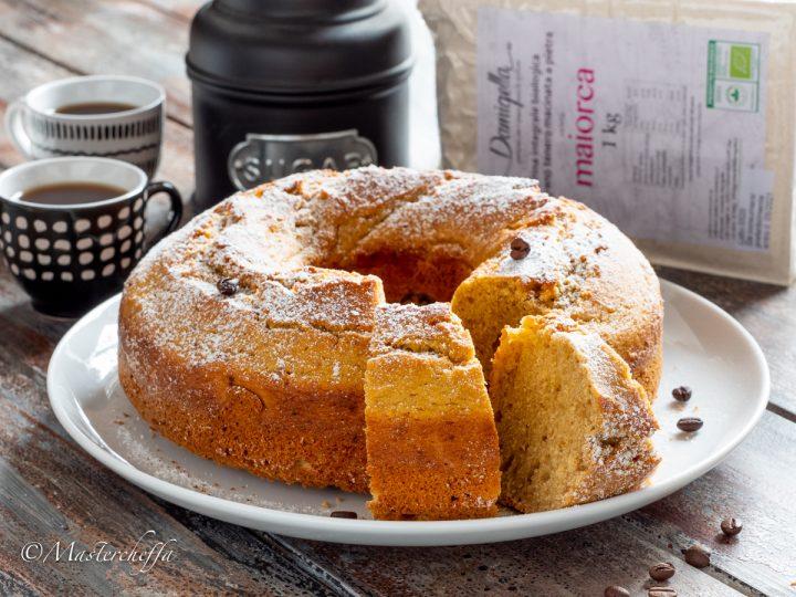 Ciambellone ricotta e caffè con farina maiorca