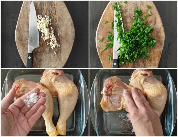 Pollo arrosto con salsa al burro passo passo 1