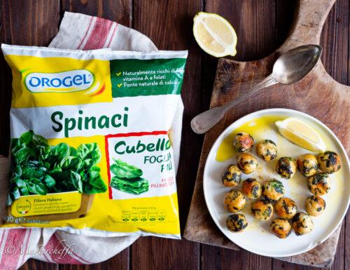 Polpette pollo e spinaci al limone