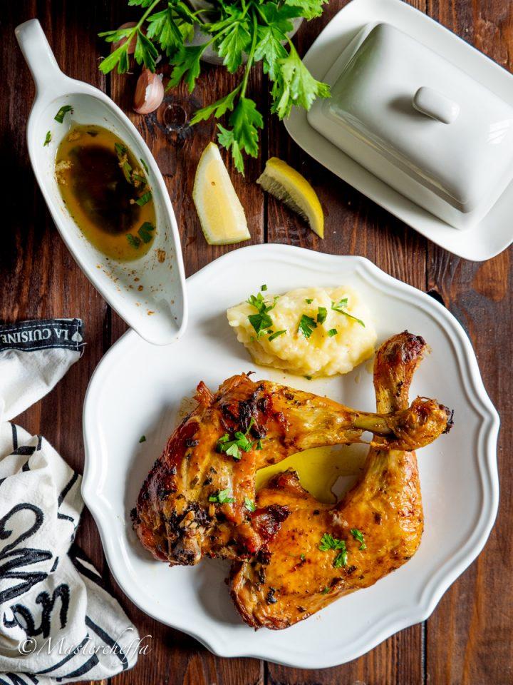 pollo arrosto con salsa al burro-2