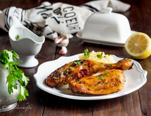 Pollo arrosto con salsa al burro, ricetta francese