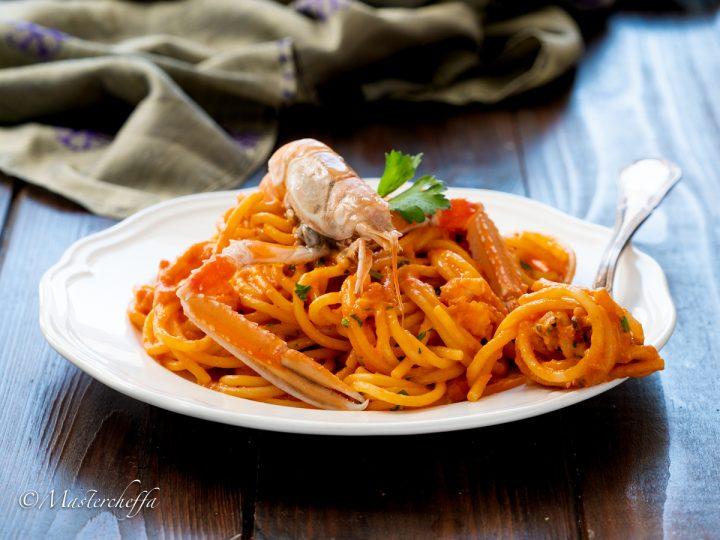 spaghetti alla crema di scampi
