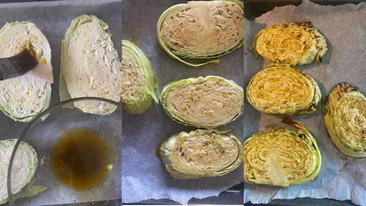 Fette di cavolo cappuccio al forno passo passo 2