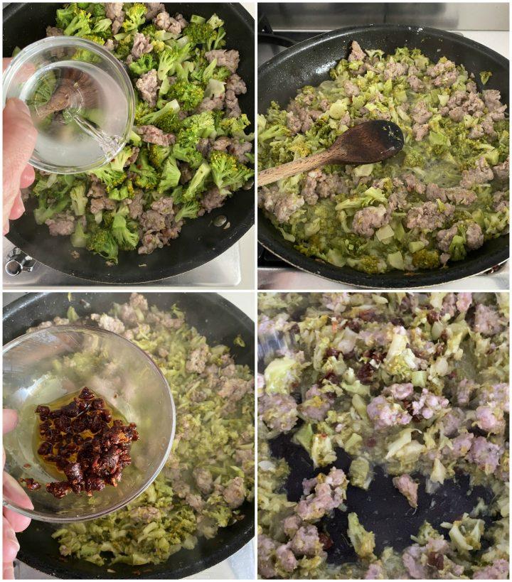 pasta fresca broccoli, salsiccia e capuliato passo passo 3