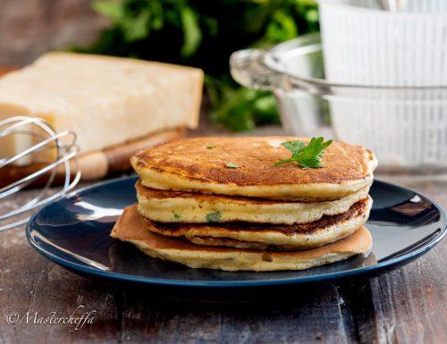 Pancake salati alla ricotta
