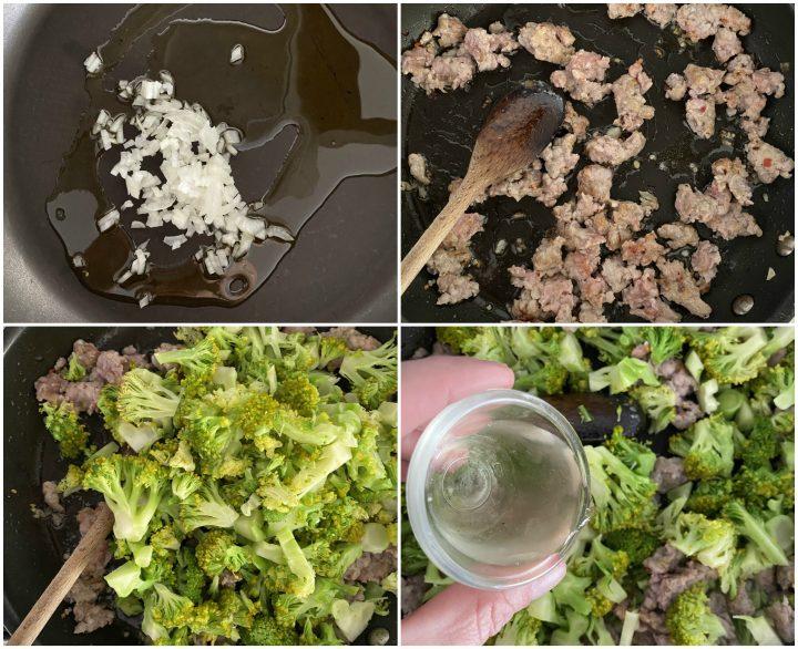 pasta fresca broccoli, salsiccia e capuliato passo passo 2