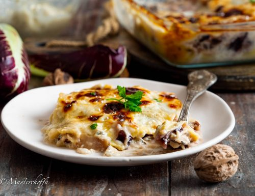 Lasagne radicchio, noci e gorgonzola