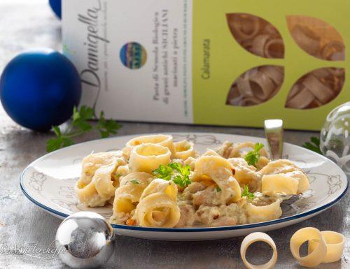 Calamarata al baccalà mantecato e fagioli