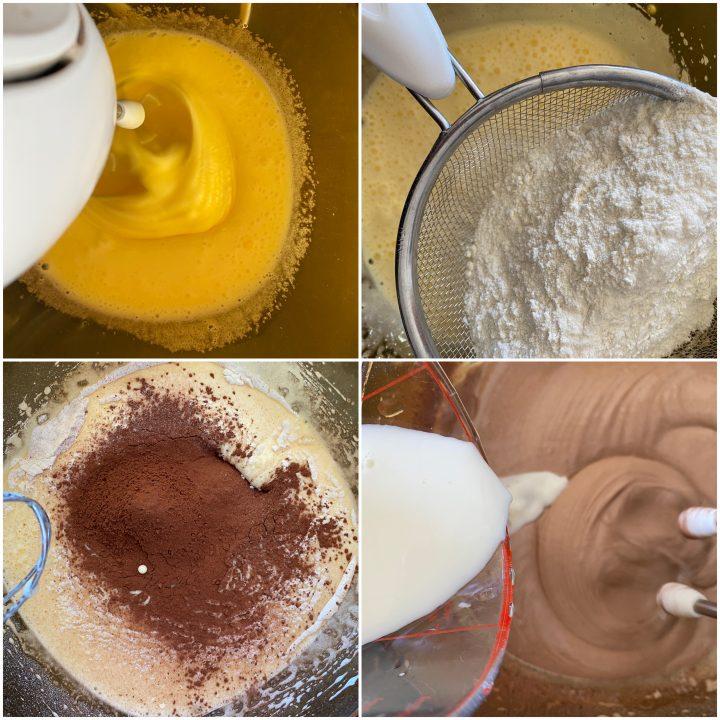 ciambellone al cioccolato glassato passo passo 1